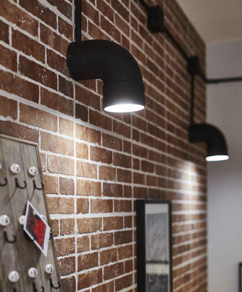 Des Appliques Diy Avec Des Coudes D Evacuation Peints Applique Industrielle Eclairage Du Salon Design De Mur