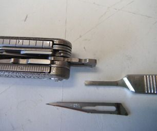 Leatherman Scalpel Handle Titanium Welding Cool Tools