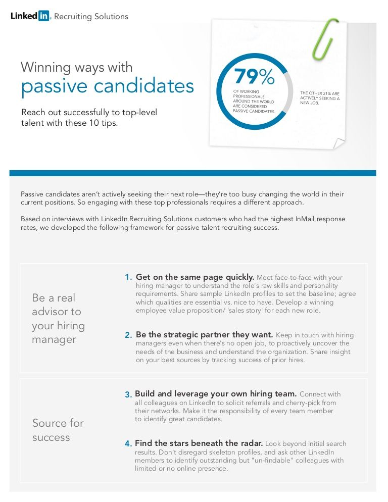 10 Tips to Engage Passive Talent