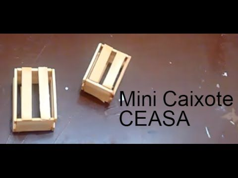 Como Fazer Mini Caixote De Madeira Ceasa Youtube Miniatura