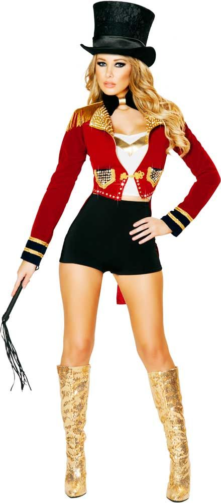 Sexy Glamorous Circus Ringleader Ringmaster Halloween Costume Outfit - halloween costume ideas for female