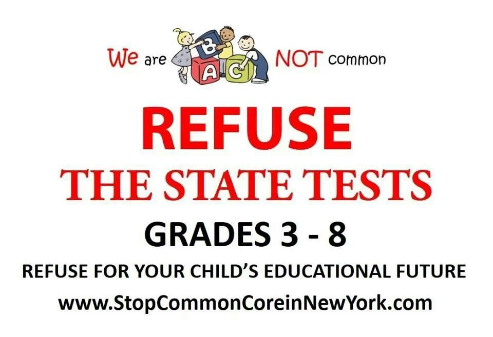 Refuse The Math Test April   Stop Common Core Standards