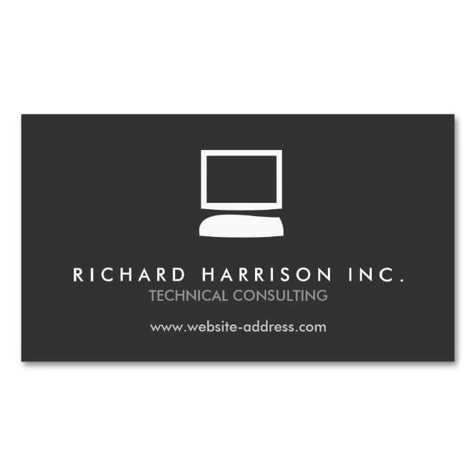 Organic computer logo whitegray business card make your own organic computer logo whitegray business card make your own business card with this reheart Gallery
