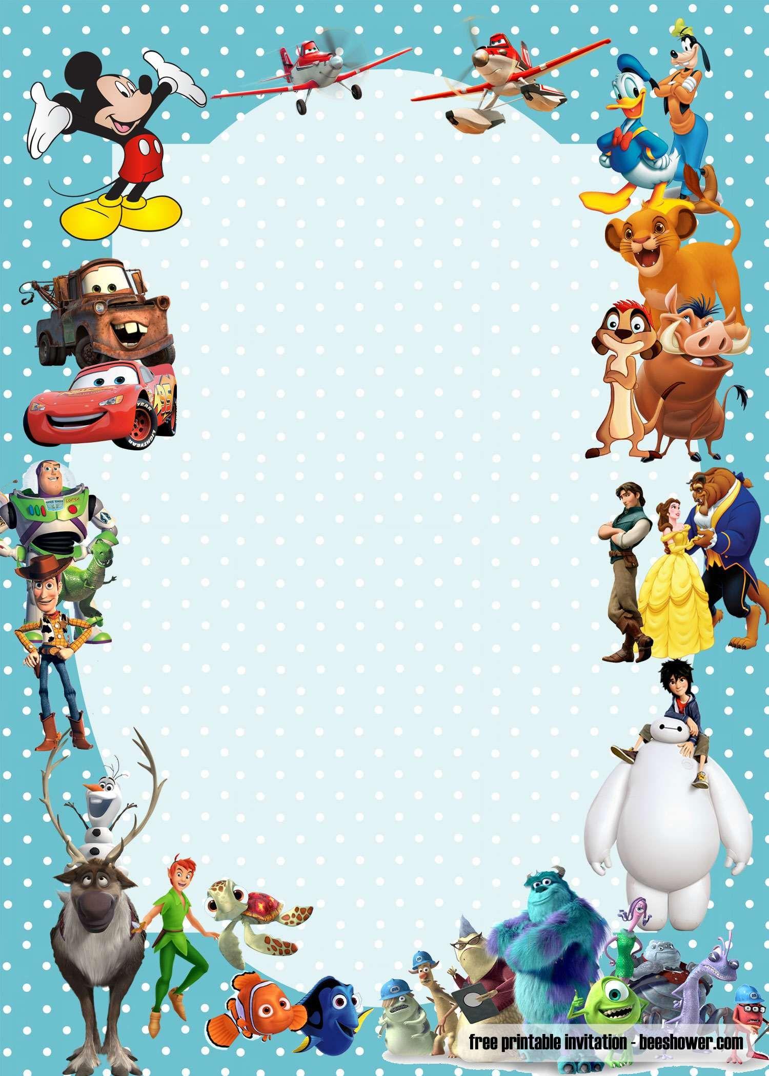 FREE Disney baby shower invitations Templates  Disney invitations