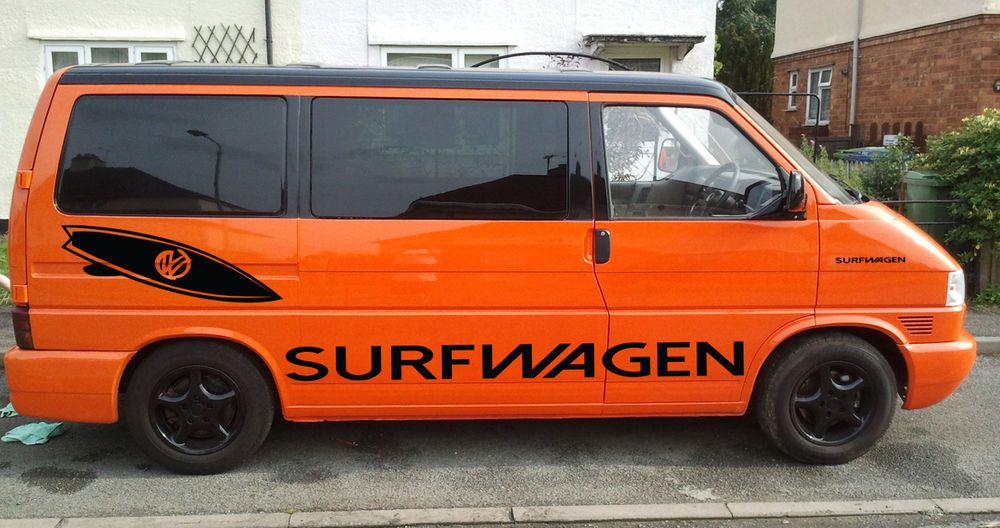 6463c27e32 VW T4 T5 TRANSPORTER SURF VAN GRAPHICS STICKER DECAL DIY KIT! Now available  to buy!