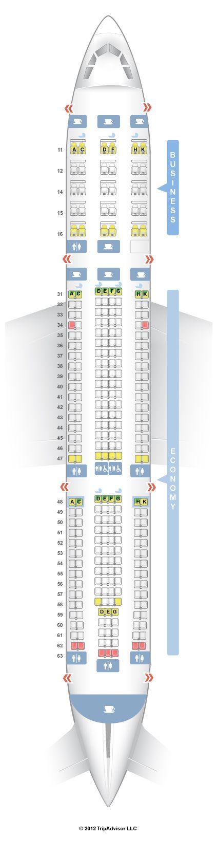 SeatGuru Seat Map Singapore Airlines Airbus A330-300 (333) | Travel ...
