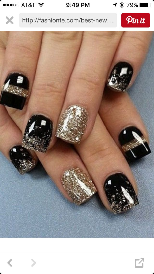 Pin by Carye Chapman on New Year\'s Nails | Pinterest | Nail nail ...