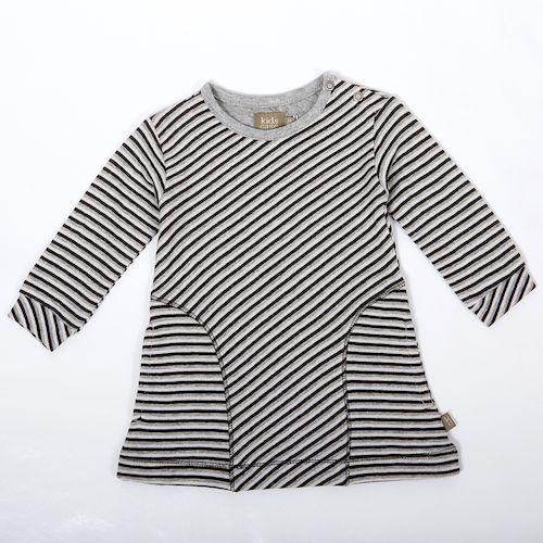 Kidscase Oliver organic baby dress - Super soft baby dress in grey stripe. Sale price £11.50 + Free P&P