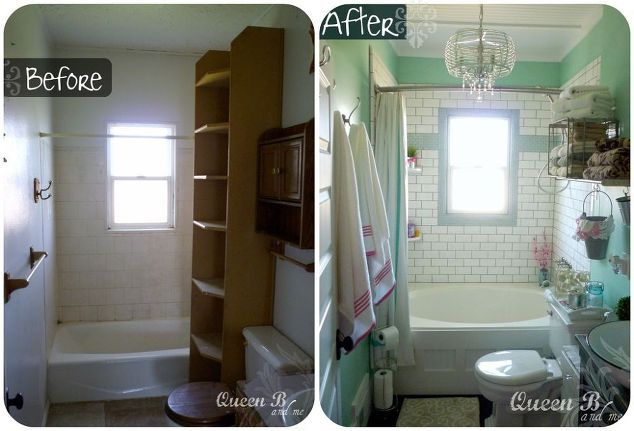Small Bathroom Remodel On A Budget, Bathroom Ideas, Home Decor, Small  Bathroom Ideas, Bathroom Before And After