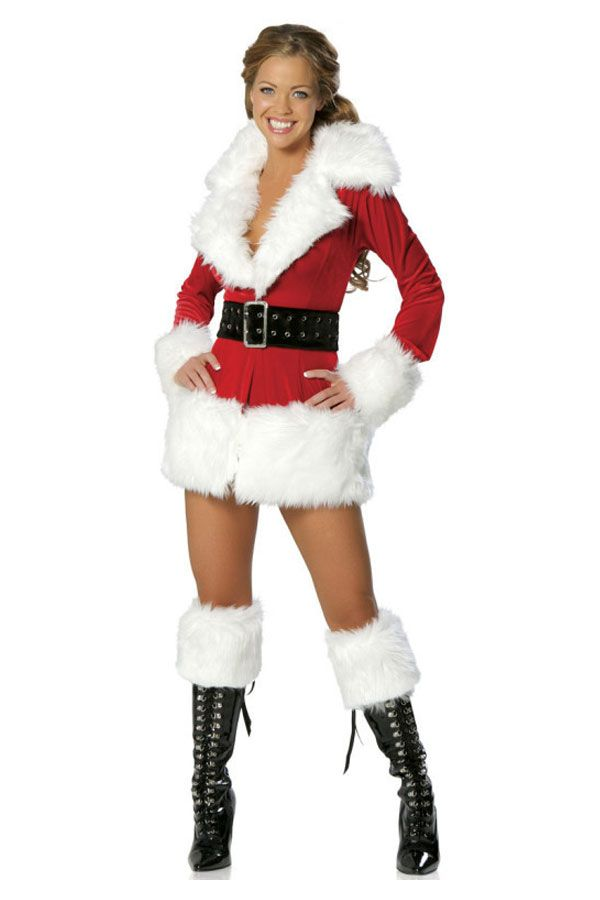 8337d7f4272b Christmas Carnival Mrs Santa Claus Cosplay Costumes For Women XMAS Costume  Sexy Adult Fancy Red Party Dress
