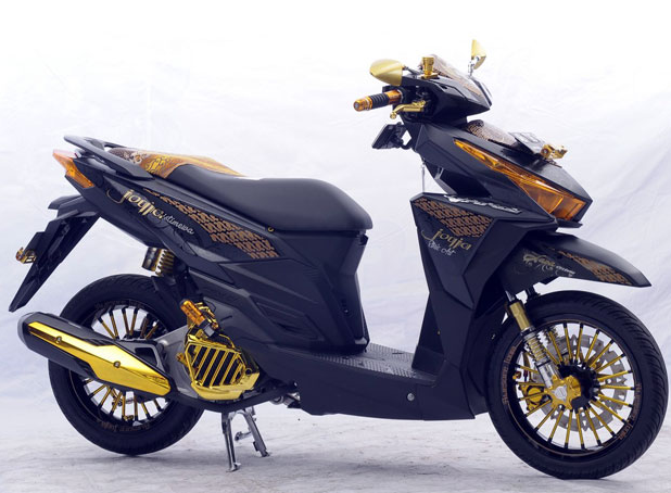 Modifikasi Honda Vario 150 Esp Cutting Sticker Desain Honda