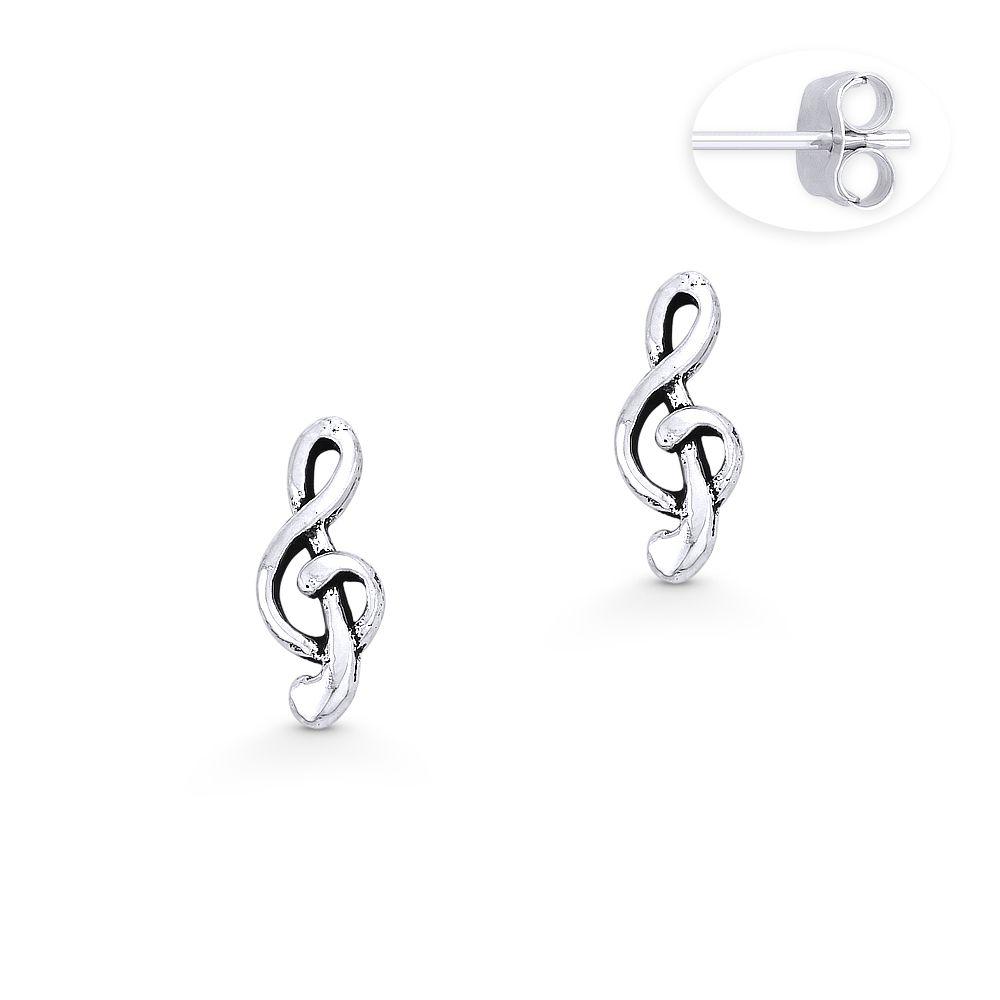 925 Sterling Silver /'G/' Stud Earrings
