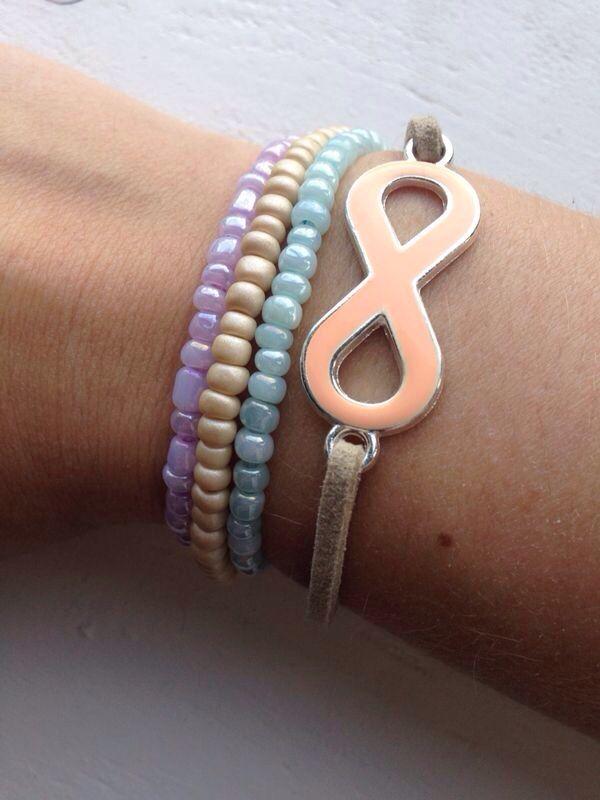 Rocailles armbandjes & infinity armbandje   Madewithlove by K&L