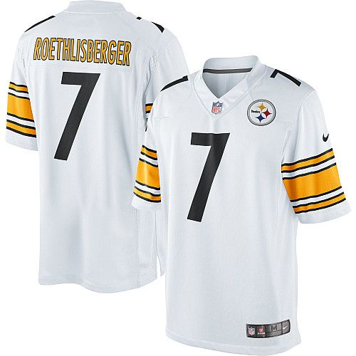 Nike Limited Ben Roethlisberger White Men s Jersey - Pittsburgh Steelers  7  NFL Road 9f8ae767b