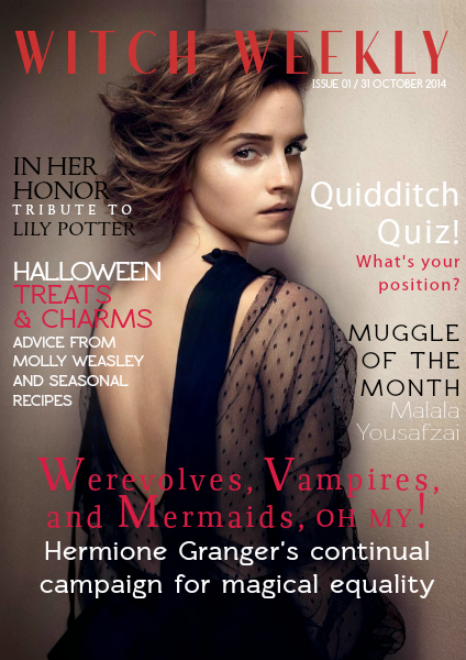 Top 25 best witch magazine ideas on pinterest is - Harry potter hermione granger real name ...