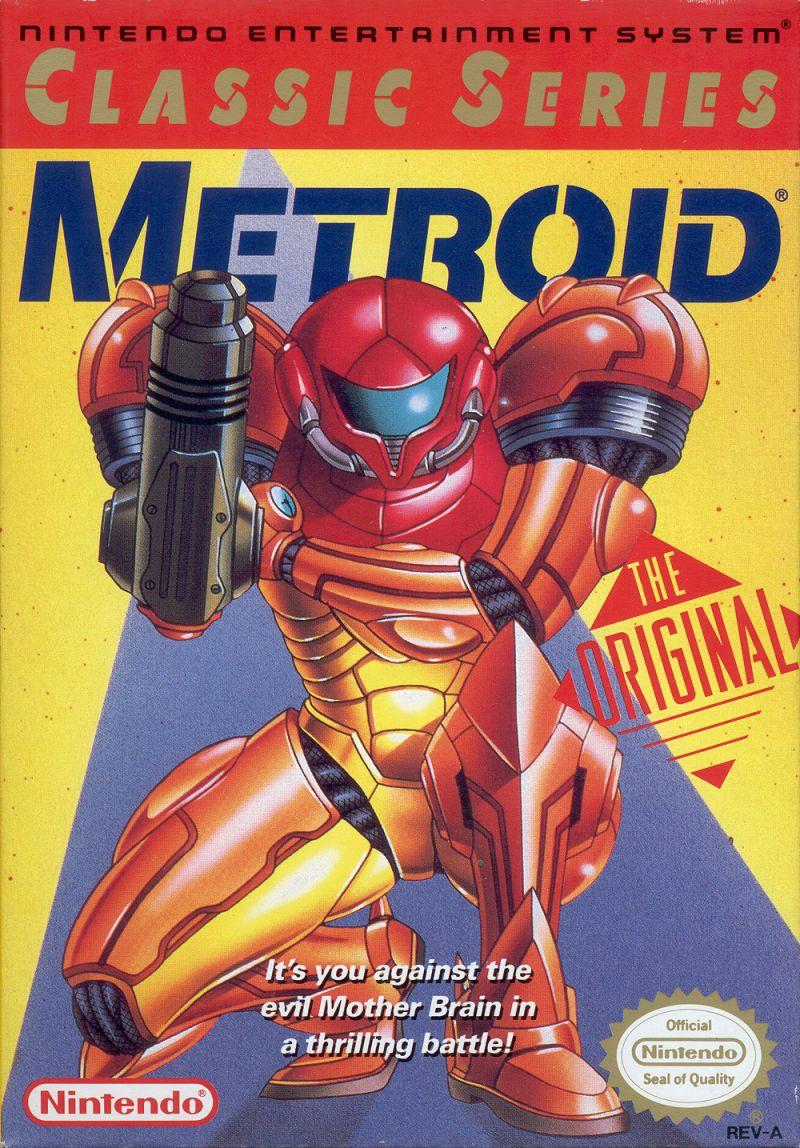 Metroid NES Front Cover Metroid, Metroid nes, Classic