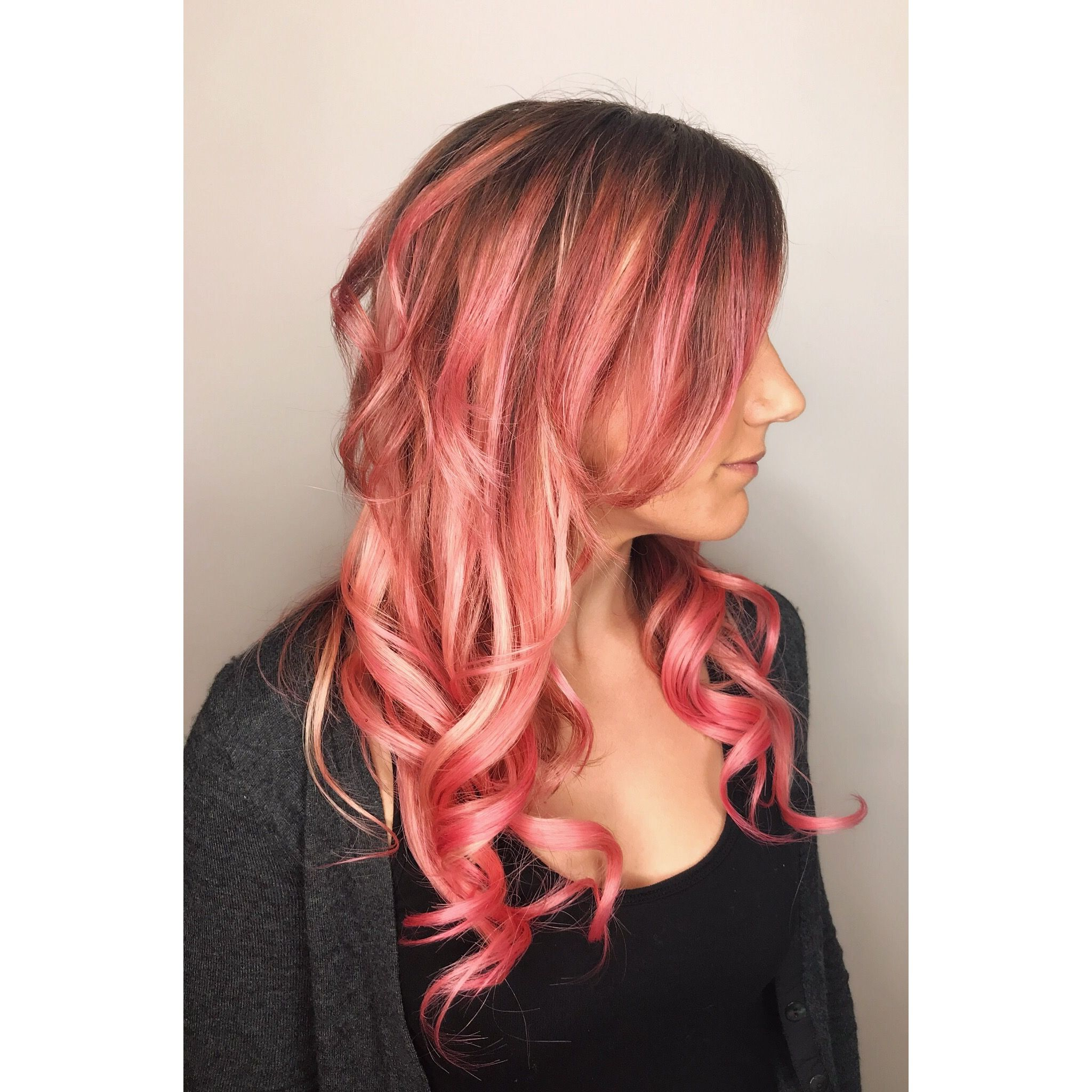 Tape In Hair Extensions And Hair Color By Karli Cranberry