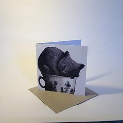 Tea Cozy Wombat Notecard - Renee Treml