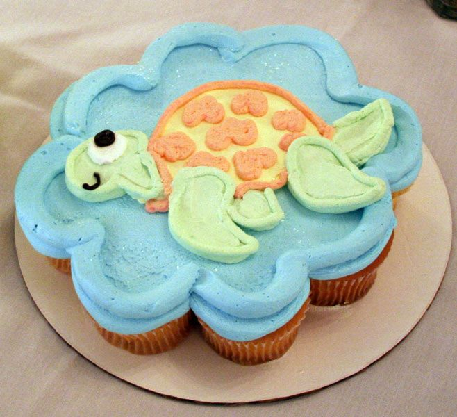 Sea Turtle CupCake by theshaggyturtle on deviantART Graduation