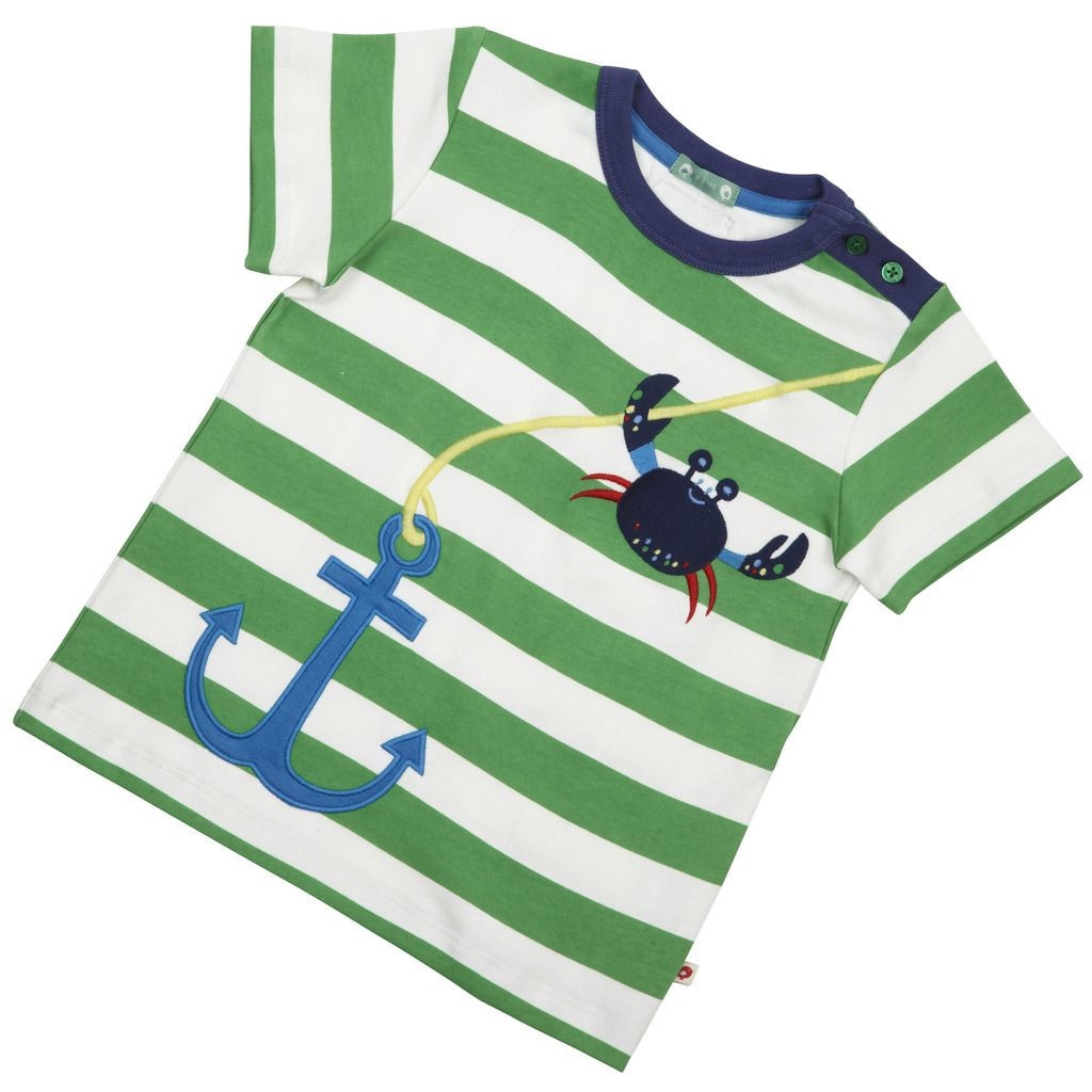 Tee - Anchor Short Sleeve Applique Stripe - available in sizes 3-4 years upto 7-8 years - RRP £18.00