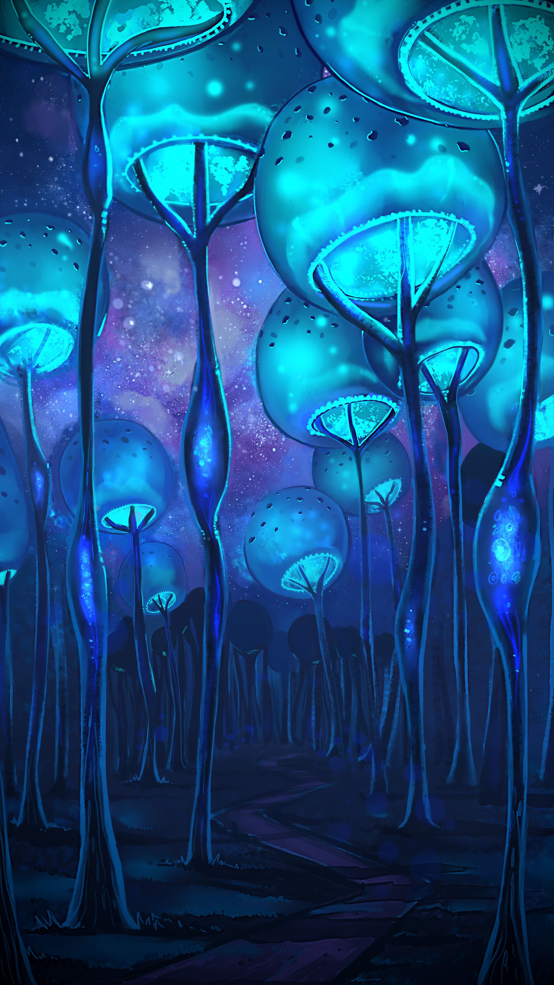 Bubble Forest By Kim Kresan Cdna Artstation Com Submitted By Dr Mrs Them0narch To R Imaginaryforest Fantasy Art Landscapes Psychedelic Art Fantasy Landscape