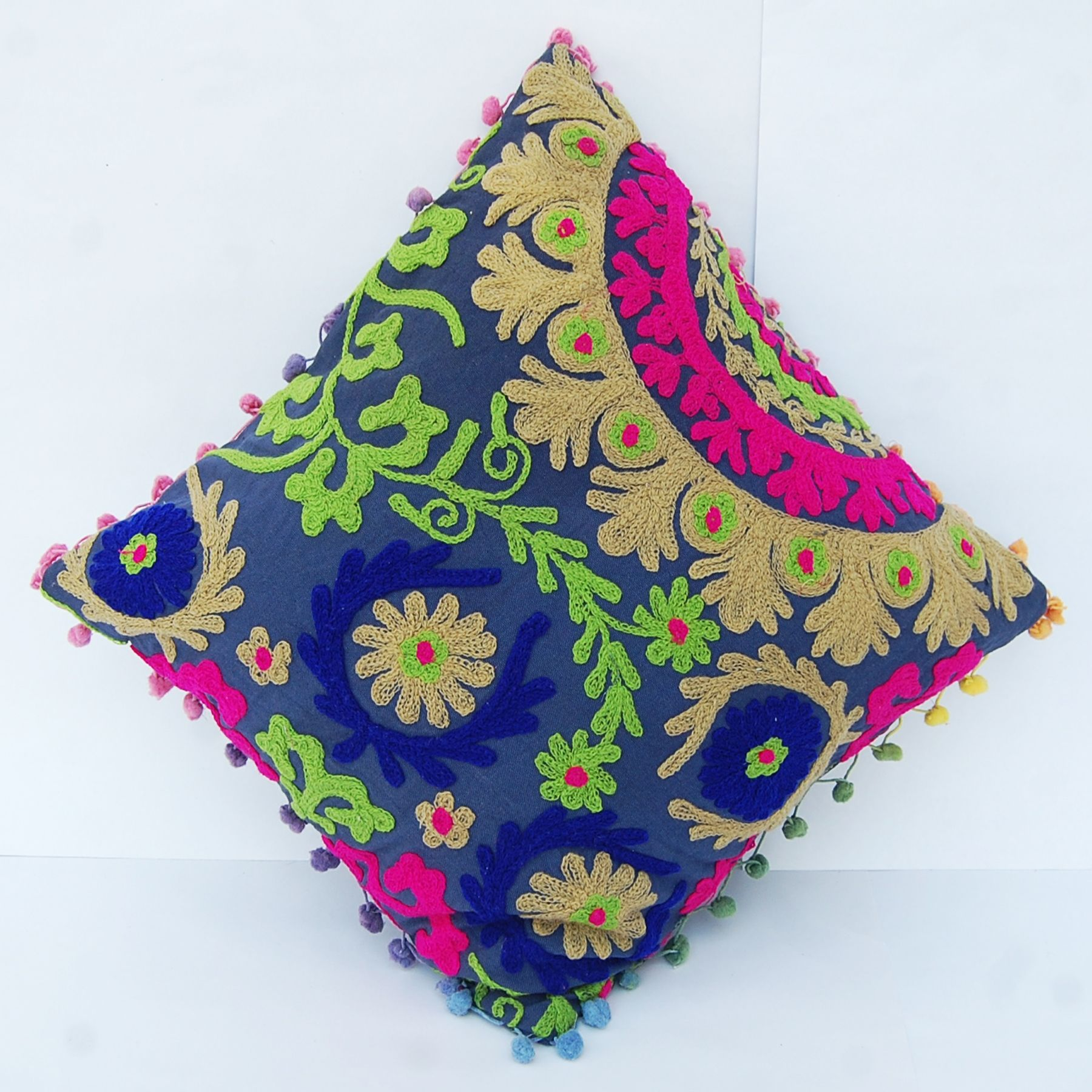 Handmade vintage embroidery cushion cover pillow cover christmas