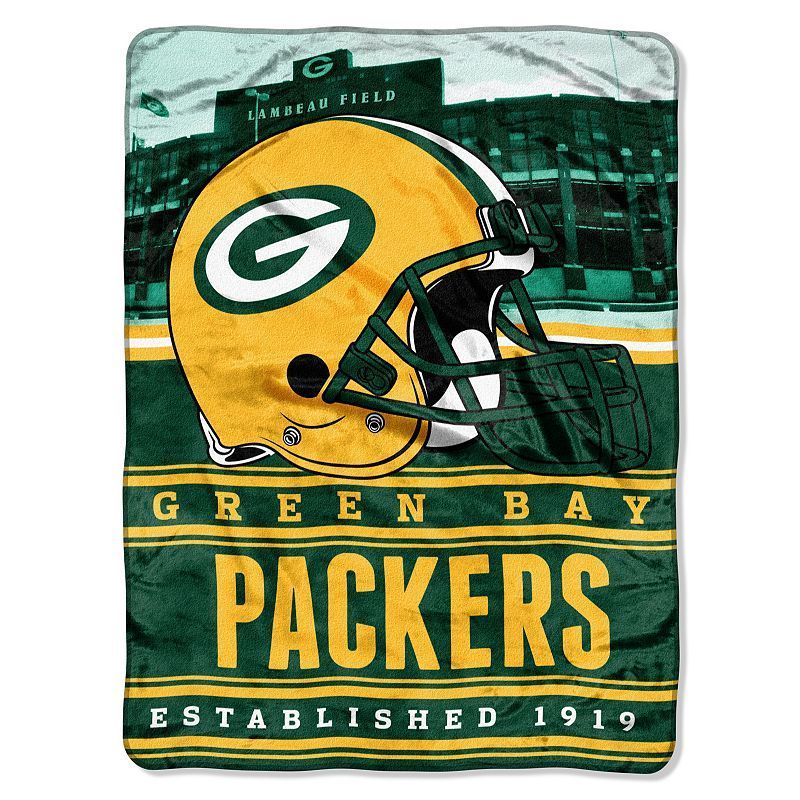 01513855 Green Bay Packers Stacked Silk-Touch Throw by Northwest | Products ...