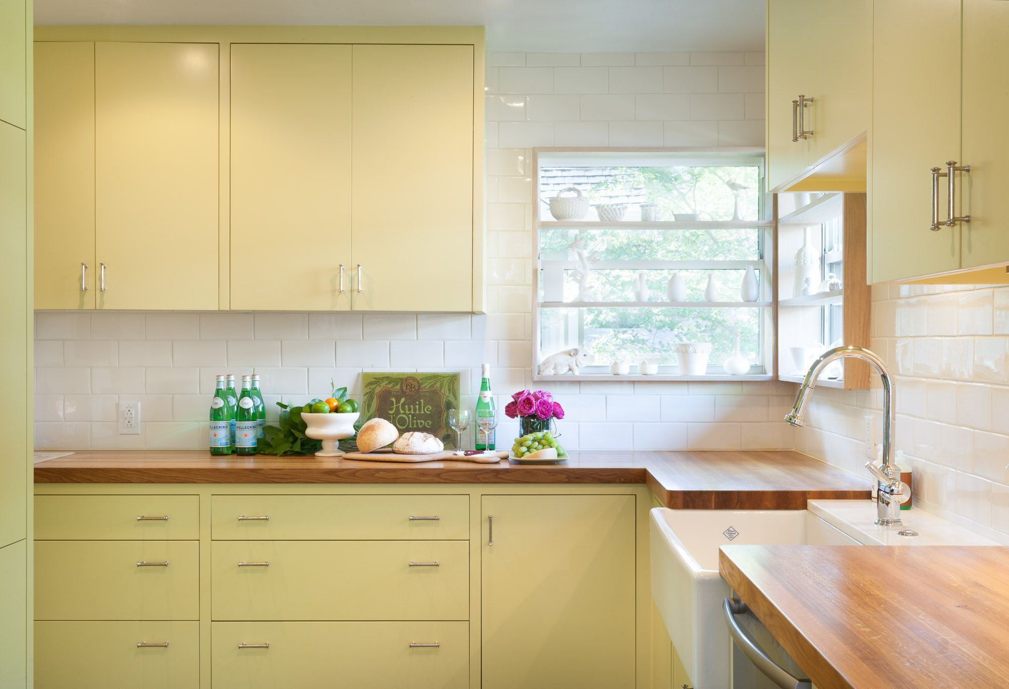 Photo Gallery Of Sinks In Wood Countertops Yellow Kitchen Cabinets Kitchen Design Modern Small Kitchen Design Small