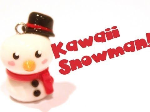 ◕‿‿◕ Snowman! Kawaii Friday 51 (Tutorial in Polymer Clay) - YouTube