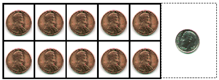 picture relating to Printable Pennies called Engage in dollars - pennies and dime printable We Acquire Virtues