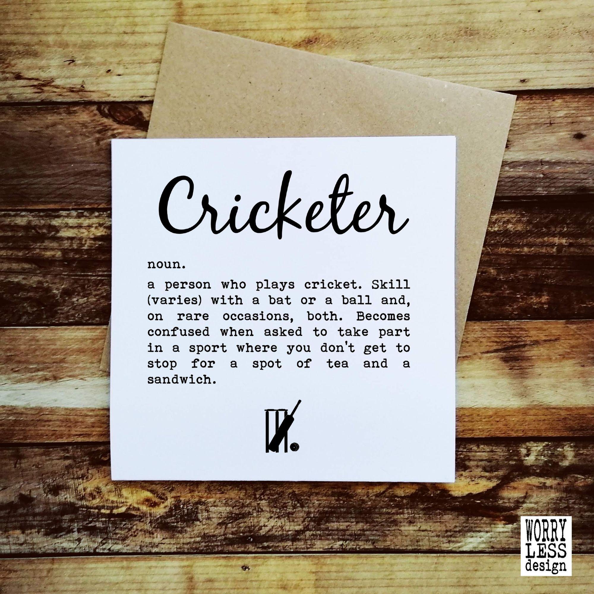 Cricket Card Cricketer Cricketer Card Card For Cricketer Cricket Dad Cricket Fathers Day Card Funny Cricket Card Cricket Lover Card Cricket Quotes Cricket Gift Box For Men