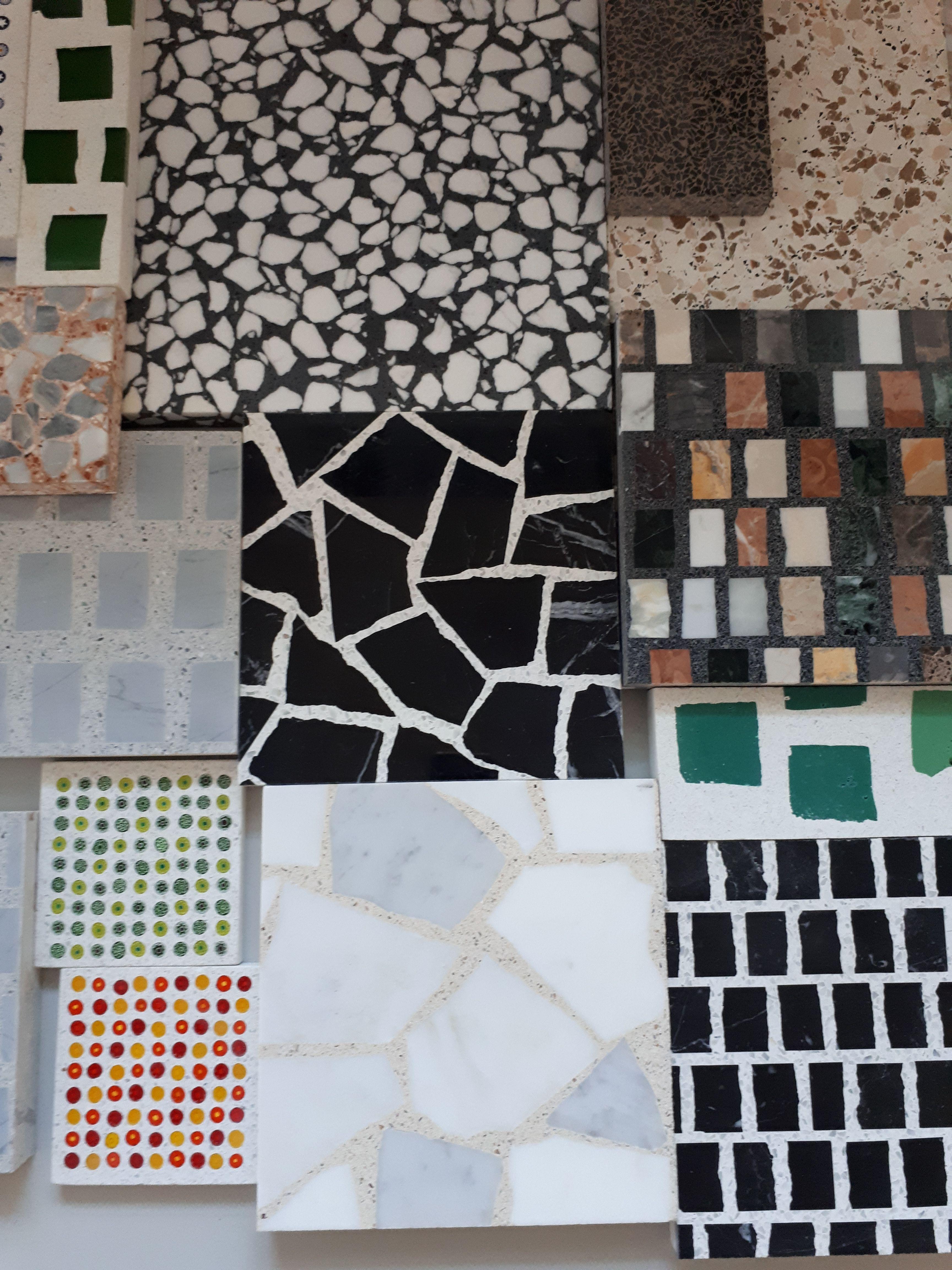 Diversi campioni di Terrazzo Veneziano Different types of Terrazzo ...