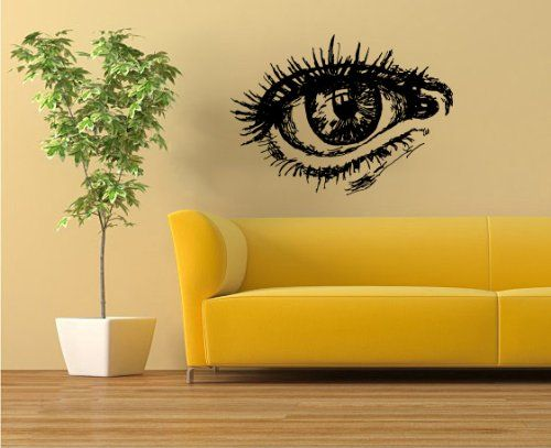 Housewares Wall Vinyl Decal Nice Eye Girl Woman Home Art Decor Kids ...