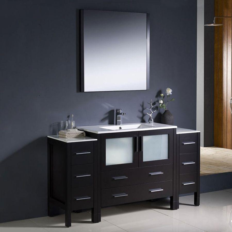 Fresca Bari Espresso Undermount Single Sink Bathroom Vany Wh