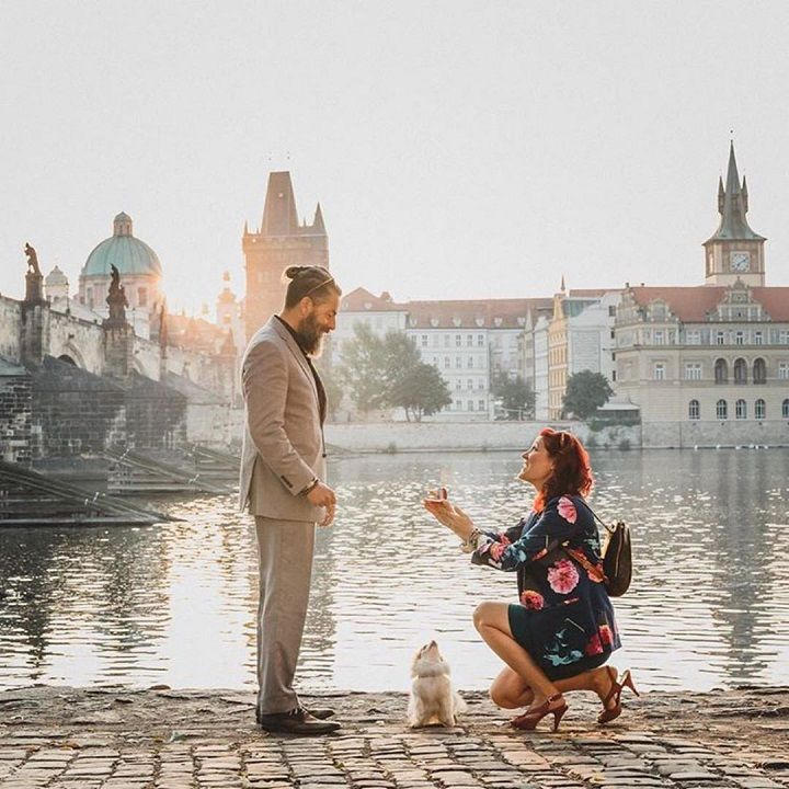 He said YES | Surprise proposal ideas | Romantic proposal ideas | fabmood.com #engagement #engagementsession #proposal #surprise #engagementshoot #marriageproposal