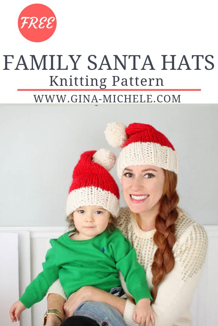 Santa Hat Knitting Pattern   Christmas dreaming   Pinterest   Costura