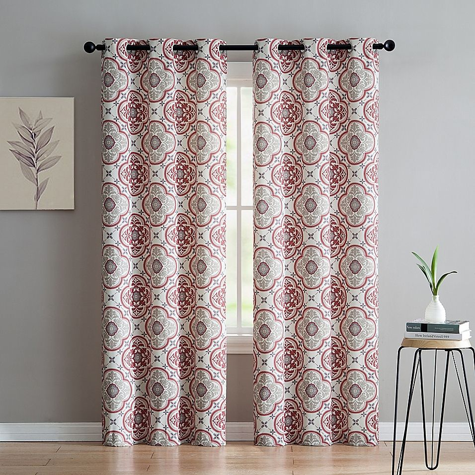 Vcny Home Winstead 96 Grommet Top Window Curtain Panel Pair In