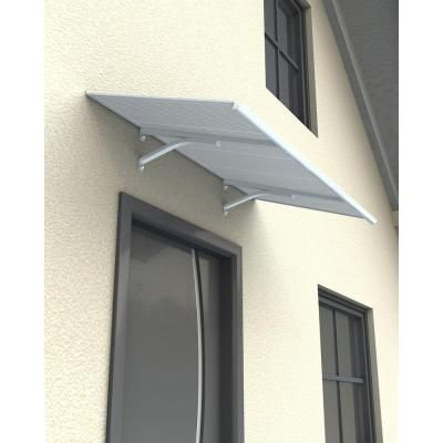 Palram Columba 1500 Twin Wall Aluminum Awning 703407 The Home Depot Aluminum Awnings Diy Awning Roof Panels