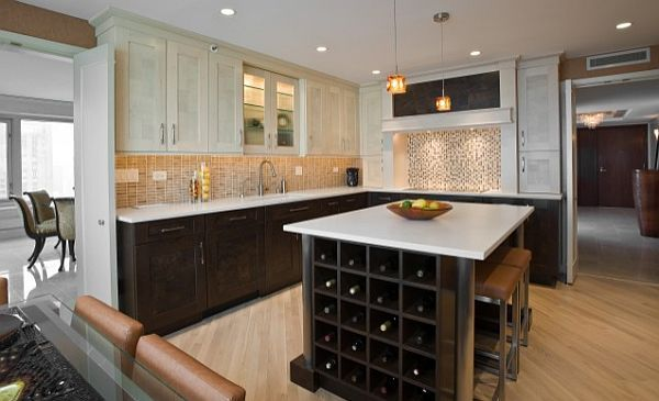 should kitchen cabinets match the hardwood floors? | kitchens