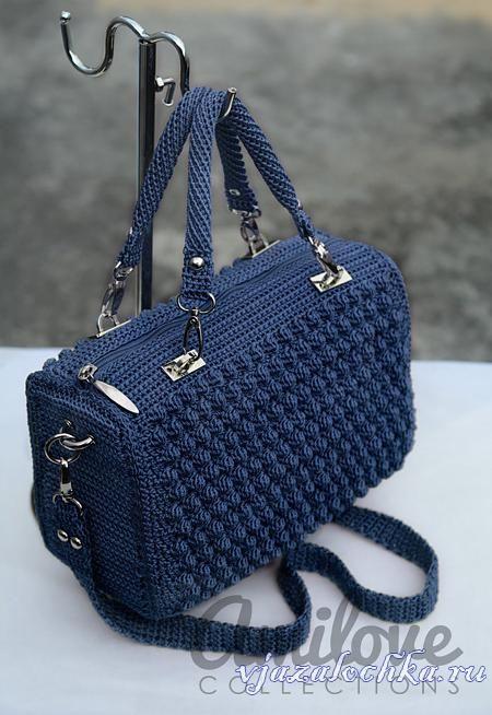 e9f2e2ef9d62 Сумка крючком, схема и мастер-класс: | Сумки вязаные | Crochet, Free ...