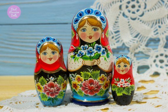 Miniature Matryoshka Cute Gift For Her Russian Nesting Doll Gift
