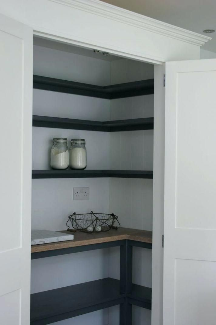 Like The Idea Of Black And Wood Tone For The Pantry