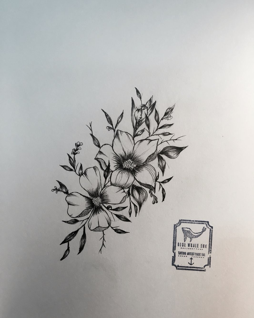 Flower Flower Tattoo Design From Blue Whale Ink Design by park tae Work In