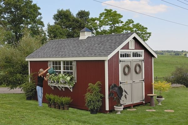 Williamsburg Colonial Wooden Outdoor Garden Shed Kit 10 X 20 10x20 Wcgs Wpnk Wooden Storage Sheds Cottage Garden Sheds Shed Design