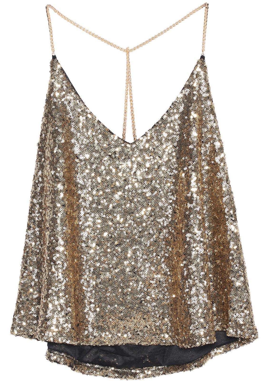 d788f354 Shop Gold Criss Cross Sequined Cami Top online. SheIn offers Gold Criss  Cross Sequined Cami Top & more to fit your fashionable needs.