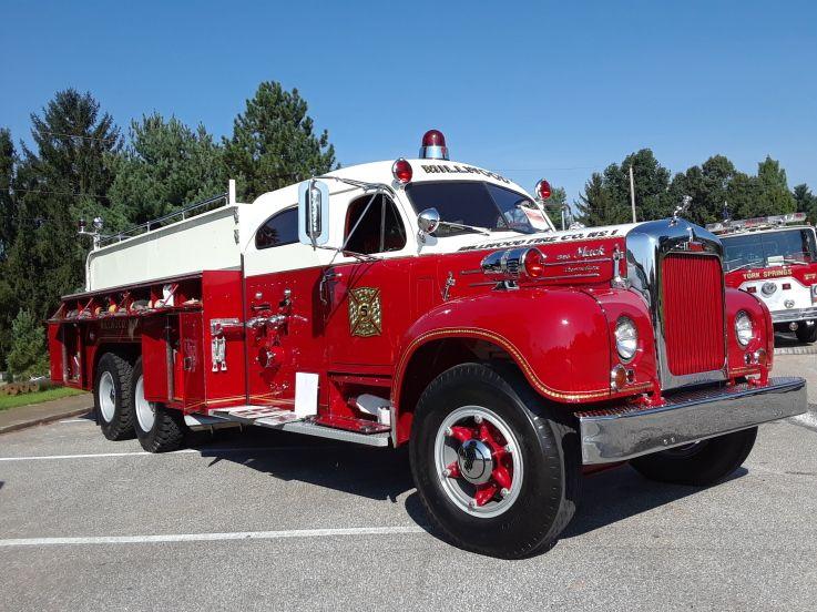 5th Annual York Fire Muster 1958 Mack B 95 Fire Trucks Fire York