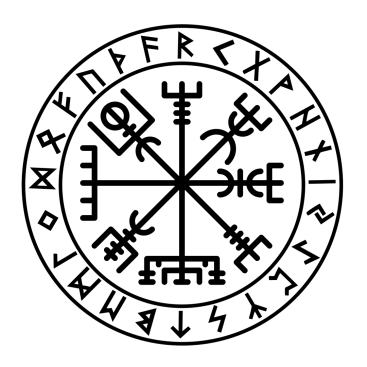 FUTHARK VEGVISIR This is our Runic Vegvisir decal. The
