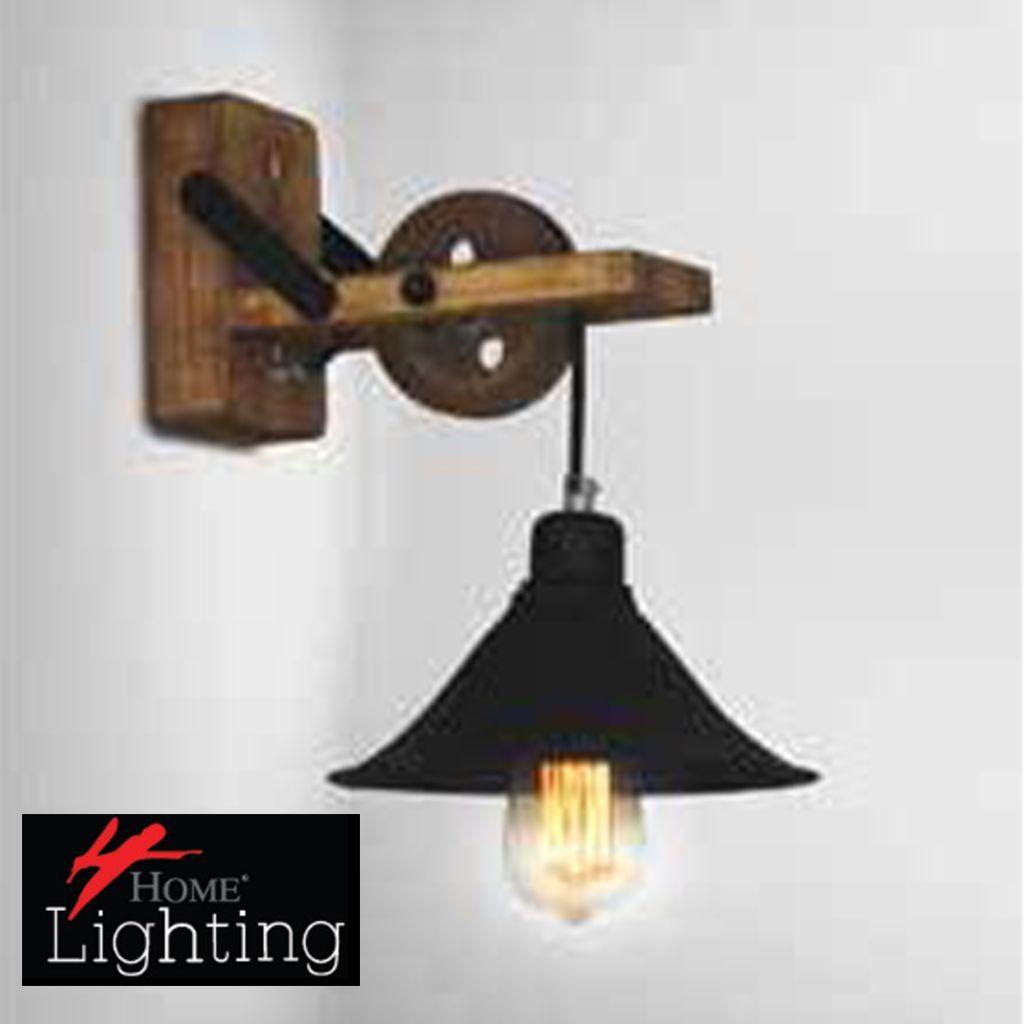 Homelighting Wandleuchte Melkor Wall Hl 318w 1s Industrial Wood Zimmer Inspirationen Wandleuchte Beleuchtung Fur Zuhause