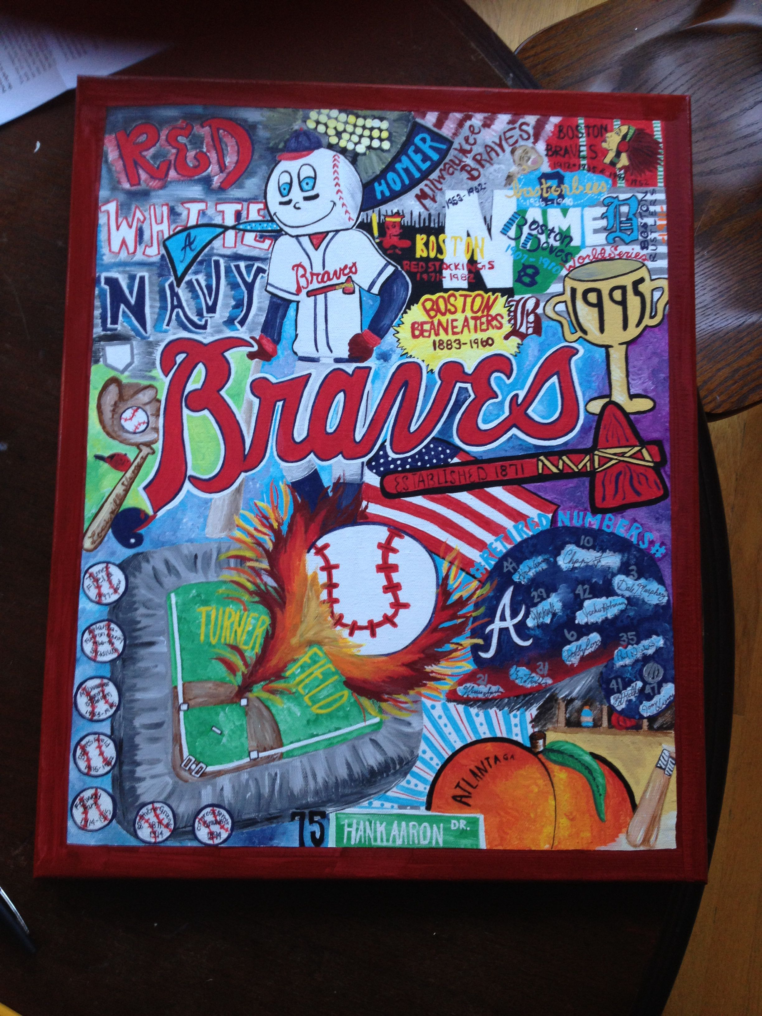 Atlanta Braves Painting Art Projects Painting Braves