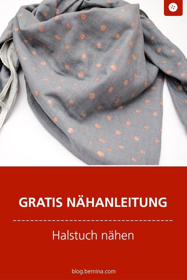 Kostenloses Schnittmuster mit Nähanleitung für ein Halstuch